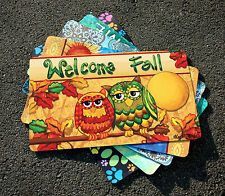 NEW Toland - Fall Owls - Decorative Autumn Leaves Welcome Door Standard Mat