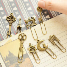 10PCS Paper Clips Cartoon Shaped Metal Bookmarks Cute Bookmarks Practical Gifts