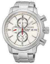 Seiko Stainless Steel Case Chronograph Wristwatches