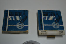 Lote de 2 reel Magnetic recording Tape- Marshall -Golden Studio 1A-3 - USA