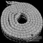 Men's 1 Row White Gold Finish Genuine Diamond Tennis Chain Necklace 22