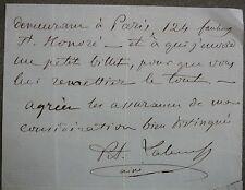 Prince Labanoff. lettre écrite d'Ems envoi de Broche de Corsage à Mde Poyet.
