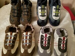 Robeez Braedon Shoes in Grey, cream, blue, navy sizes 2-3yrs. 4-5yrs . 5-6yrs