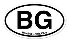 """BG Bowling Green Ohio Oval car window bumper sticker decal 5"""" x 3"""""""