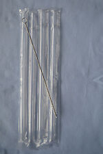 """4 Clear Reusable Drinking Party Straws Acrylic Ring 9"""" BPA Free + Cleaning Brush"""