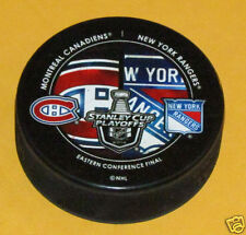 MONTREAL CANADIENS vs NEW YORK RANGERS 2014 Round 3 East Final DUELING LOGO PUCK