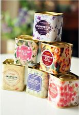 1pc Mini Beautiful Tea Storage box Tin Container Candy Canister Buy 6 get 1 Free
