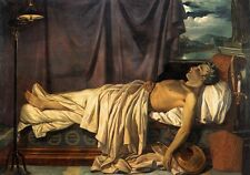 Oil painting male portrait - Lord Byron on his Death-bed