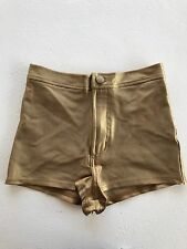 American Apparel Metallic Gold Disco Shorts XS Extra Small NEW