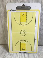 """Champion Sports 10"""" x 16"""" Basketball Coaches Dry Erase Diagram Board Pre-owned"""