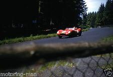 LUIGI MUSSO PHIL HILL FERRARI 250TR NURBURGRING 1000KM 1958 PHOTOGRAPH FOTO