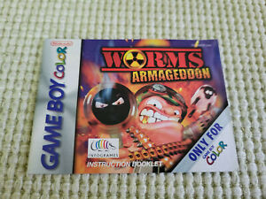 Worms Armageddon - Authentic - Nintendo Game Boy Color - Manual Only!