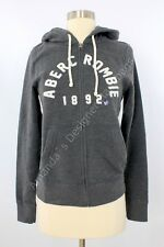 NWT Abercrombie And Fitch Women Logo Graphic Hoodie Gray Small
