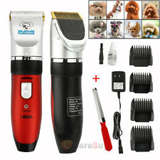 Professional Pet Dog Electric Hair Trimmer Shaver Razor Grooming Clipper + Combs
