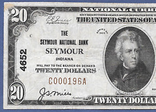IN  1929 $20    ♚♚ SEYMOUR, INDIANA ♚♚