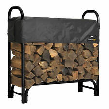 Shelter Logic 4' Heavy Duty Firewood Rack w/ Cover