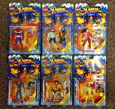 1995 TOY BIZ X-MEN MUTANT GENESIS SERIES COMPLETE 6 FIGURE SET LOT WOLVERINE D20