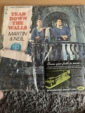 VINCE MARTIN & FRED NEIL: TEAR DOWN THE WALLS (LP vinyl *BRAND NEW*.)