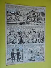"SERGIO TARQUINIO-tavola originale FIRMATA pagina-134 -""3 Storie Avventurose""1954"