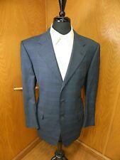 Mens Blazer Sport coat Jacket Hickey Freeman 40r Blue Window Payne S#56