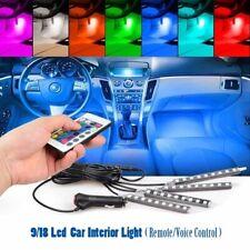 4 Pcs/Set Multicolor LED Car Interior Atmosphere Light Neon Lamps Kit