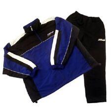 Microfaser Präsentationsanzug Trainingsanzug, blau/schwarz, diverse Größen