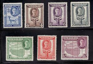 Sc 99 - 105 - Somaliland - 1938  - MH - superfleas - cv$15.62