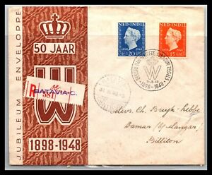 GP GOLDPATH: NETHERLANDS-INDIE COVER 1948 REGISTERED LETTER _CV561_P09