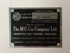 Chassis Plate For MG MGA 57 - 62 CRCP340