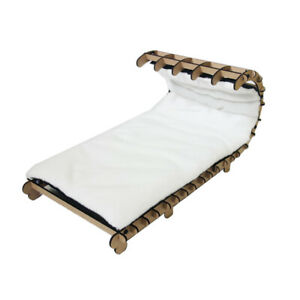Sled Shaped Orthopedic Deck Bed Pillow Cushion Lounger Cuddler for Dogs & Cats