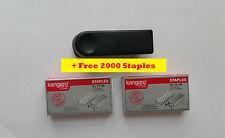 KANGARO MINI 10 STAPLER WITH STAPLE REMOVER HOOK + FREE 2000 STAPLES HOME OFFICE