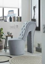 Schuhsessel Retro-Look Knopfsteppung Sessel Stuhl High Heel NEU 1d
