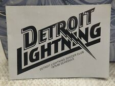 DETROIT LIGHTNING 1979-1980 SOCCER POCKET SCHEDULE