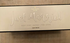 """Kate Spade New York """"Just Married"""" Window Cling Car Decal White New In Box"""