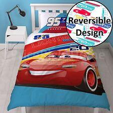 Disney Cars 3 Single Duvet Cover Lightning McQueen 2 in 1