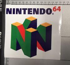 Nintendo 64 Sticker Car Wall Console Zelda Mario Kart Original Game Full Colour