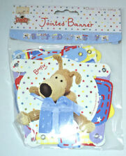 BIRTHDAY BOY Boofle JOINTED BANNER Blue Shaped LETTERS & PICTURES Party Bunting