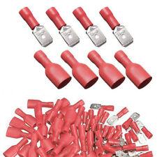 100tlg. capocorda piatto connettore Faston Maschio Rosso crimpare isolante