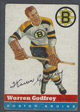 1954-55 Topps Boston Bruins Hockey Card #50 Warren Godfrey