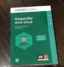 New kaspersky antivirus 3pc Essential Protection For Your Pc Free Shipping!!!