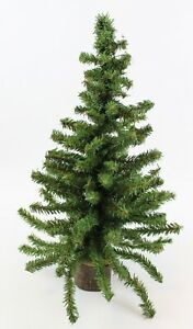 """Christmas Tree Artificial Pine Table Top with Wood Base Holiday Decor 17.5"""" Tall"""