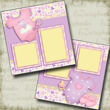 Baby Girl Gear - 2 Premade Scrapbook Pages - EZ Layout 3802