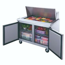 Dukers Dsp48-18M-S2 Commercial 2-Door Refrigerated Food Prep Table with Mega Top