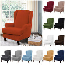 Stretch Sofa Chair Cover Soft Wingback Armchair Protect Couch Cover Solid Color