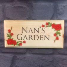 Nans Garden Red Rose Border Plaque / Sign - Personalise Nanny Grandma Mum 240
