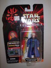 Star Wars Ep 1 Senator Palpatine Action Figure Hasbro Toys 1998 CommTech Chip