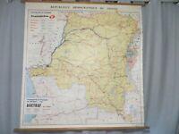 carte entoilée géographique du Congo transports Transintra EGETRAF