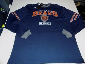 CHICAGO BEARS MENS SIZE LARGE LICENSED LONG SLEEVED T-SHIRT -NAVY- NWT