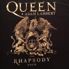 two sided Queen + Adam Lambert t-shirt-2019 Rhapsody Tour-concert pic-New-(2Xl)