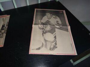 Chicago Black Hawks vintage Gilles marotte # 2 Black & white poster very rare ho